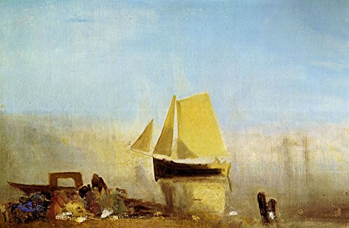 Das Museum Outlet–Fischerboot in a Mist von Joseph Mallord Turner–A3Poster