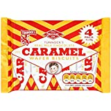 Lait Caramel Chocolat réel Wafer Biscuits 4 x 30g Tunnock (Pack de 20 x 4)