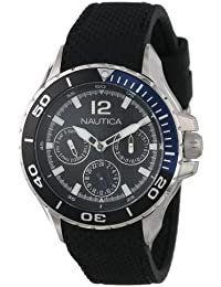 Nautica N16635M NST 02 Mid Classic Stainless Steel Enamel-Bezel Watch f049ab0e029
