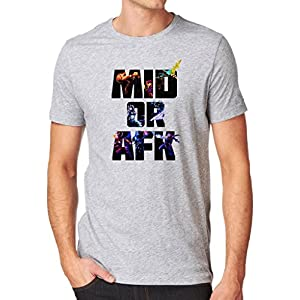 Gamer Quote Mid or AFK Shirt Custom Made T-Shirt