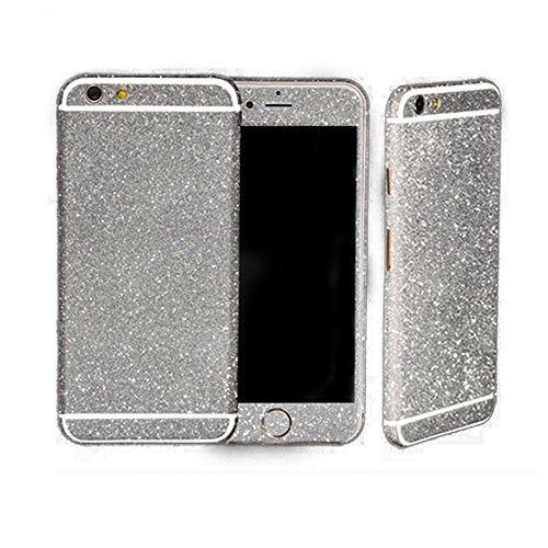 FAS1 Diamond Sparkling Body Bling Glitter Sticker Skin Film Case For Apple iphone 6/6S Plus 5.5 (Gold) Silver