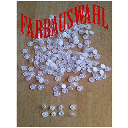 50 Nähfrei KAM Snaps Druckknöpfe MATT , T5 = 12,5 mm Nachfüllpack Farbauswahl (B03-Weiß) (Weiß-snap)
