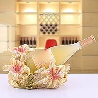 ZHGI Rosso vino rack, pastorale continentale resina, creativo vino armadietto rosso vino rack decorazione, cantina vino rosso mestieri decorazione,,B