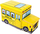 Bieco 04000506 - Staubox und Sitzbank Schulbus, ca. 55 x 26,5 x 31,5 cm