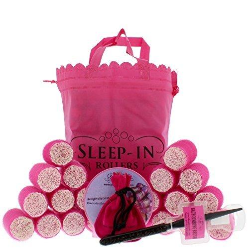 Sleep In Rollers Glow In The Dark Confezione Regalo 20 Bigodini + Pettine + DVD