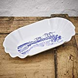 Pommesschale Porzellan - Handgemacht von Ahoi Marie - Motiv Hafenliebe - Maritime Currywurst-Schale original aus dem Norden