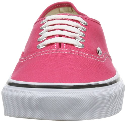 Vans U Authentic - Baskets Mode Mixte Adulte Rose Fuchsia (Rouge Red/True White)