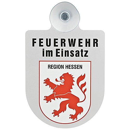 KUNSTSTOFFSCHILD mit Saugnapf Autoschild FEUERWEHR RAHMEN Innenraum Auto Wagen