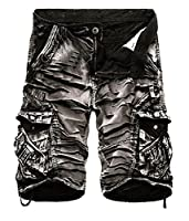 Tootlessly Men's Summer Casual Camouflage Sports Cargo Short Pattern1 28