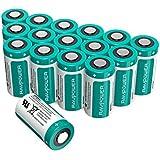 Batterie Lithium CR123A RAVPower, 16-Pack, 1500mAh pour Chaque Pile, 10 Ans de Durée de Conservation pour Arlo Caméra Vidéo, Flashlight Photo, Appareil Photo Digital, Torche, Microphones, etc.