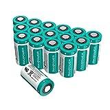 CR123A 3V Batterie al Litio RAVPower Pacco da 16, 1500mAh l'Una, 10 Anni di Conservazione per Arlo Videocamera, Flashlight Photo, Fotocamera Digitale, Torcia, Giocattoli, Microfoni, etc