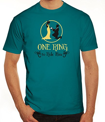 Junggesellenabschieds JGA Hochzeit Herren T-Shirt One Ring To Rule Him Diva