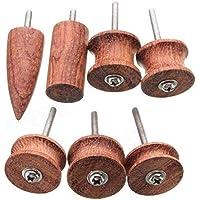 Ji Yun Herramienta abrasiva, 7pcs Kit de Pulido del Borde de la Cabeza Burnisher de Cuero Cuero Madera Rectificado eléctrico