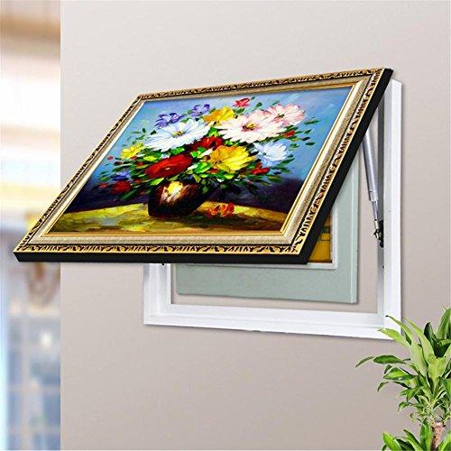 Box Dekoration Gemälde Blühen Chrysanthemen Bild Gänseblümchen Muster Zeichnung Block Verteilung Meter Box / Drücken ziehen Wandgemälde / Elektrisch Meter Dekorativ , up and down , 40*30 cm ()