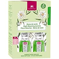Cristalinas Ambientador Dama de Noche, Cristal, Verde, 14.5x4.8x21.3 cm, 2 Unidades