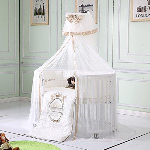 Baby Moskitonetz Netting Baldachin Vorhänge Mädchen Jungen Kleinkind für Bett Krippe Ultra Feinmaschigen Schutz Hohe Qualität ( Farbe : Gold )