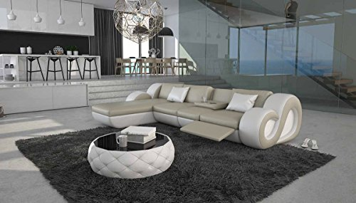 SalesFever Moderne Ecksofa Garnitur in L-Form Tane-L-Lux
