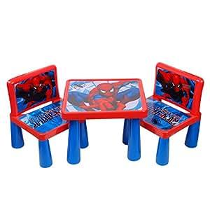 Table chaise enfant ensemble jardin enfant plastique en dessin spiderman Disney de haute qualité neuf 19