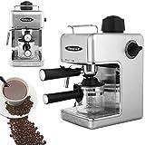 Sentik® Professional Espresso Cappuccino Coffee Maker Machine Home - Office (Silver)