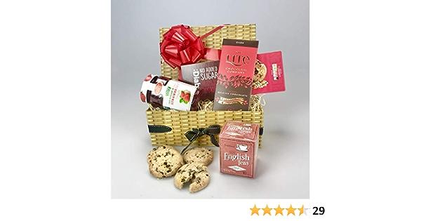 Gift Hamper Sugar Free Tea Coffee Biscuit Cookies Mum Dad Present Diabetic Set