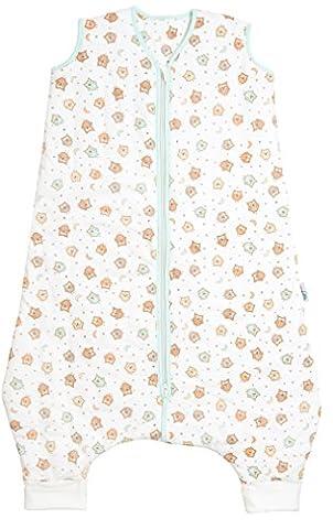 Schlummersack Schlafsack mit Füßen leicht gefüttert für den Sommer in 1.0 Tog - Eulen - 3-4 Jahre/110