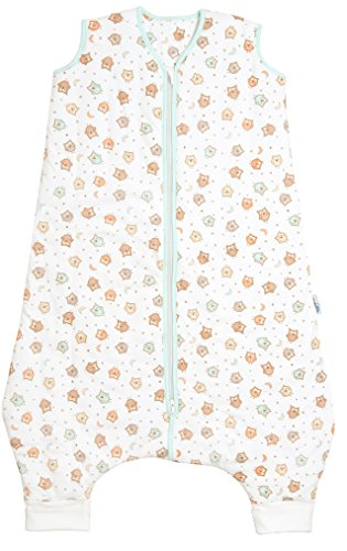 Schlummersack Baby Winterschlafsack mit Füssen 3.5 Tog - Eulen - 12-18 Monate/80 cm