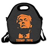 Donald John Trump Lunch Bag Lunch Tote, Waterproof Outdoor Travel Picnic Lunch Box Bag Tote With Zipper And Adjustable Crossbody Strap