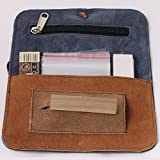 #8: Pick Indiana Rolling Pouch Combo with 1 Suede Pouch Rolling Paper Dispenser (Multicolor), 2 Rolling Papers, 5 Fresh Seal Bags and 1 Filter Tip Roach Pad 50 leaves