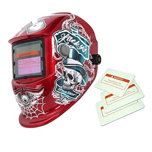9e9740b0e11a2f Générique, Casque de Soudage Assombrissement Automatique Solaire Masque de  Soudeur Motif Toile d Araignée - Rouge. AUDEW Lunettes ...