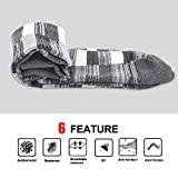 Mens Socks, Okiss Mens Cotton Dress Winter Thick Socks with Patterned,Breathable,Office and Suit Socks(5-Pairs, Argyle + Grid)