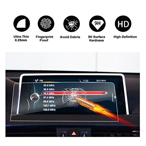 Protecteur d'écran en verre trempé pour système de navigation de (2015 - 2018) BMW X1 (F48), écran invisible, transparent cristal HD protecteur d'écran transparent, Protection des yeux, RUIYA