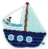 Vervaco PN-0154818 Geformte Kreuzstichkissen Segelboot