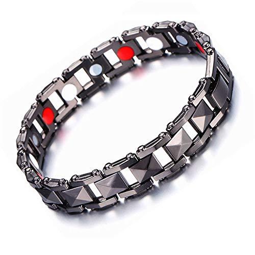 Fousamax Magnetische Armband, Angst Relief Gewichtsverlust Migräne Magnetfeldtherapie Armbänder für Carpel Tunnel Edelstahl für Frauen Männer