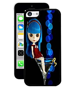 Fuson 2D Printed Cute Doll Designer Back Case Cover for Apple iPhone 5C - D755