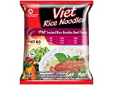 Viet Rice noodles soup Instant Pho Bo Reisnudeln mit Rindgeschmack, 5er Pack (5 x 65g)