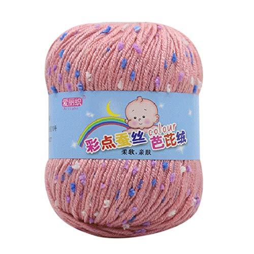 LCLrute 50g Hand Stricken Knicker Garn häkeln weiche Schal Pullover Hut Garn Strickwolle Stricken und Häkeln Babywolle (G) -