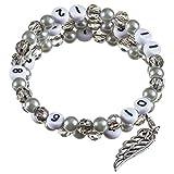 Stillarmband Grey - Praktisch für stillende Mütter sowie ein ideales Geschenk zur Geburt! (Glasschliff-/Glaswachsperlen)