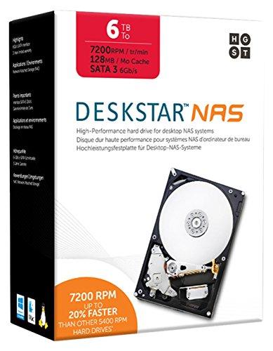 HGST Deskstar IDK 6TB NAS WW 6000GB Serial ATA III - Interne Festplatten (6000 GB, Serial ATA III, 7200 RPM, 3.5 Zoll, NAS, Festplatte)
