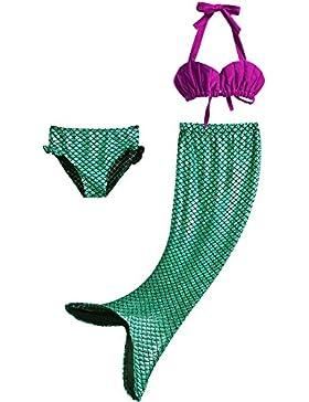 Pettigirl niedlich Mädchen Meerjungfrau Schwimmanzug 3-Teile-Set Bikini Kostüm Badeanzug