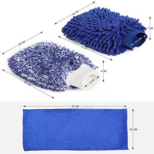 InnoGear-Set-guanti-per-autolavaggio-in-microfibra-1-pezzo-di-guanto-di-lavaggio-impermeabile-con-microfibra-delicata-1-pezzo-grande-panno-in-microfibra-1-panno-in-microfibra-panno-morbido-in-corallo-