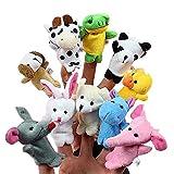 DARLINGTON & Sohns 10 Stück lustige Mini Fingerpuppen Tiere Spielpuppen Stoffpuppen Puppenspiel