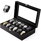 Caja para Relojes con 12 Compartimentos Caja para Guardar Soporte de...