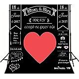 Générique personnalisé de l'ardoise de craie fond idée Parti Coeur Grand ou carton photo booth/mariage/bricolage