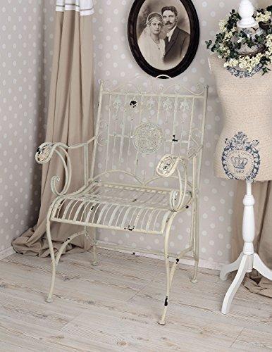 Gartenstuhl Shabby Chic Sessel Antik Weiss Gartensessel Stuhl Metall Palazzo Exklusiv