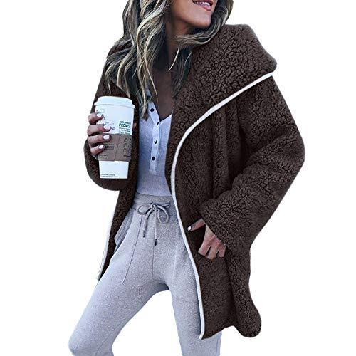 Manteau Chaud à Manches Longues pour Femmes,Covermason épaisse Hiver Chaud Manteau Automne Hiver Sweat-Shirt Manteau Veste Couleur Unie Cardigan Pull Veste Casual Manteau