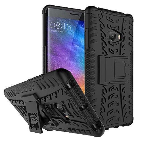 Xiaomi Mi Note 2 Funda , Anzhao Heavy Duty silicona híbrida con soporte Cáscara de Cubierta Protectora de Doble Capa Funda Caso para Xiaomi Mi Note 2 (Negro)