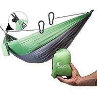 Cómoda hamaca seda de paracaídas de cnoc I Outdoor Camping con hamaca, estable con más de 300 kg capacidad de carga I Hammock Viaje Hamaca camping accesorios I útiles Viaje Gadgets (2 Personas)