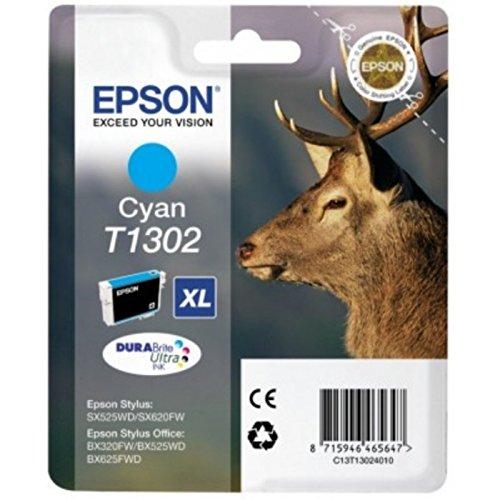 Preisvergleich Produktbild Epson original - Epson WorkForce WF-7525 (T1302 / C 13 T 13024020) - Tintenpatrone cyan - 880 Seiten - 10,1ml