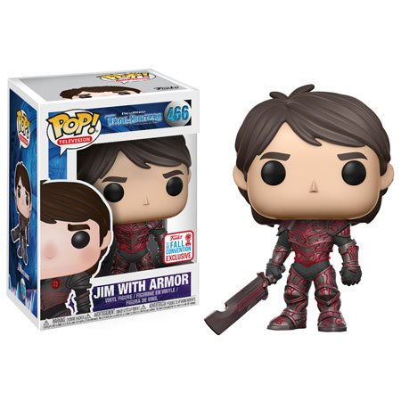Funko – trollhunters Pop Vinyl Figure 466 Jim with Armor NYCC 2017 Convention Exclusives, 23722