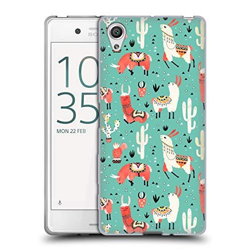 Head Case Designs Offizielle Lidiebug Froehliches Lama 3 Tiermuster Soft Gel Huelle kompatibel mit Sony Xperia X/X Dual